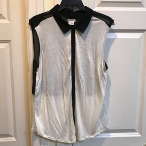 Cooperative White Collared T-shirt